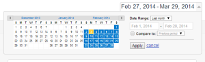 Set the date range for your Google Analytic Report